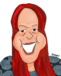 Bearman Cartoons Caricature of Gail Thornton