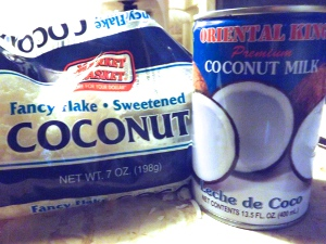 Coconut Flakes and Milk